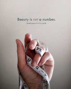 Beauty is not a number. Health Posters