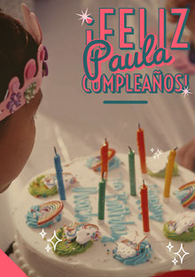 unicorn birthday cake birthday cards  Tarjeta de cumpleaños