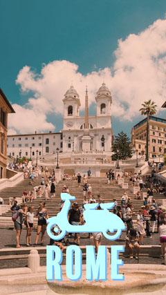 Blue Vespa Rome Snapchat Filter Italy
