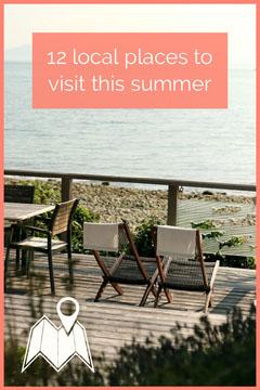 Blue and Pink Lake Side Staycation Pinterest Lake