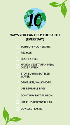 Green world with leaf decoration save the earth checklist copy Earth