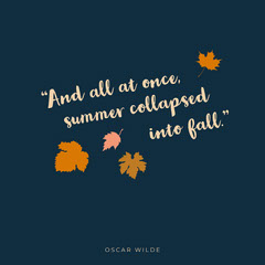 Blue and Beige Quote Instagram Graphic Fall