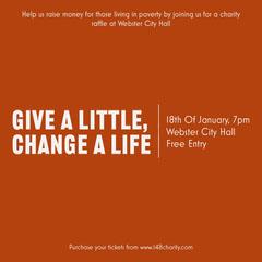 Orange Charity Raffle Instagram Square Fundraiser