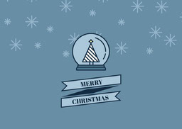 Blue Merry Christmas Card jeff-test-5