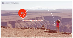 Namibia Travel and Tourism Facebook Post Graphic with Tourist in Desert Landscape Fish