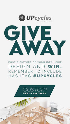 White and Green Design Contest with Bicycle Giveaway Instagram Story Giveaway