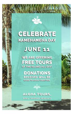 Blue and White Kamehameha Day Flyer Flyer
