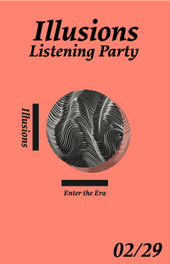 Enter the Era Listening Party Poster Red