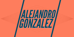 Orange and Blue LinkedIn Banner with Name Typography