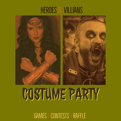 Green Costume Party Promotion Holiday Party Flyer