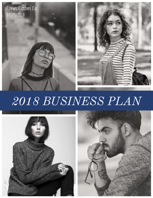 Black and White Fashion Collection Business Proposal Business Plan