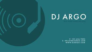 Blue Modern DJ Business Card Business Card