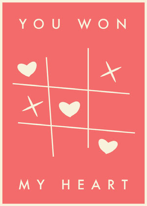 Pink and White, Light Toned Valentines Day Card Love Messages