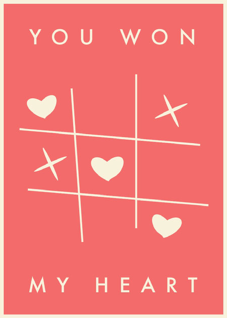 Pink and White, Light Toned Valentines Day Card Messages d'amour
