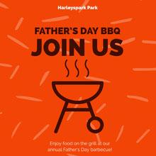 Orange and Brown Father's Day BBQ Promo BBQ Menu