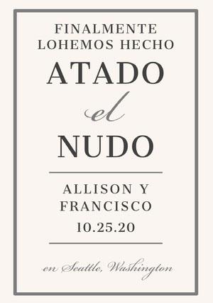 tied the knot wedding announcements  Anuncio de boda