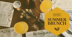 Orange New Summer Menu Restaurant Ad Drink Menu
