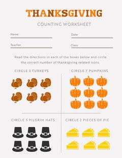 Light Toned Thanksgiving Children School Worksheet Document Thanksgiving Flyer