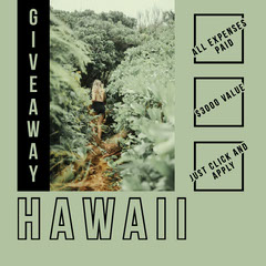 Green and Black Hawaii Instagram Graphic Giveaway