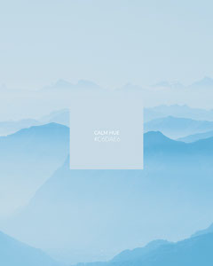 Blue, Light Toned Color Sample Instagram Portrait Landscape