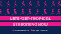 Pink and Navy Blue Streaming Now Banner Banner