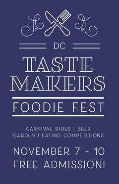 food festival foodie taste flyer Food Flyer