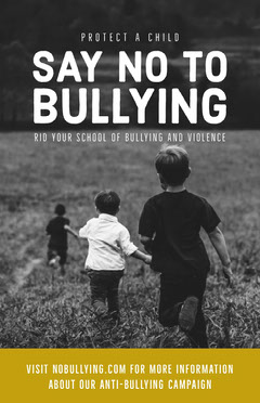 Black and White Say No to Bullying Poster Campaign