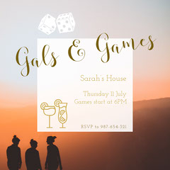 Gals & Games Game Night Flyer