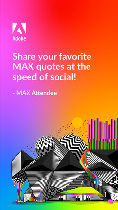 Adobe Max Quote Instagram Story Template Rainbow