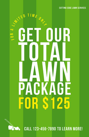 Striped Lawn Care Business Flyer Lawn Care Business Flyer