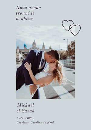 happily ever after wedding announcements  Faire-part d'annonce de mariage