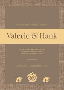 Valerie & Hank Convite de casamento