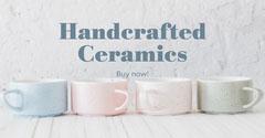 Pastel Photo Ceramics Facebook Advert  Crafts