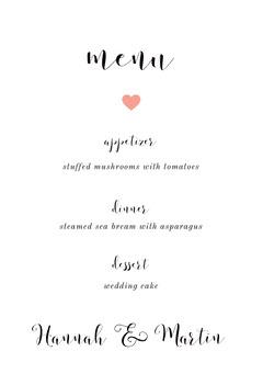 menu Dinner Menu