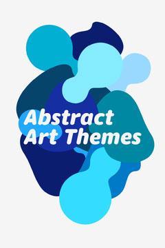 Blue Abstract Shapes Art Themes Pinterest Post Art