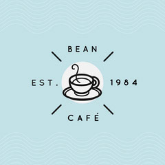 Blue and Black Bean Cafe Instagram Square Coffee