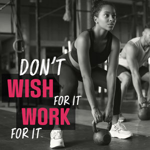Pink & Greyscale Fitness Motivation Instagram Square Motivationsplakat
