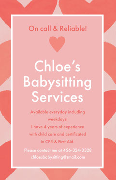Chloe's <BR>Babysitting <BR>Services Day Care