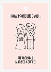 Illustrated Wedding Congratulations Card Congratulations Messages