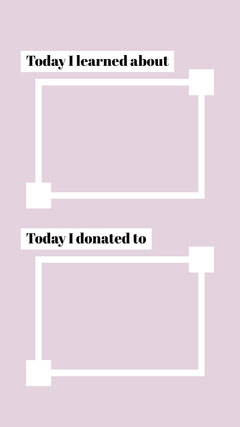 Pink and White Border Blank Interactive Instagram Story Border