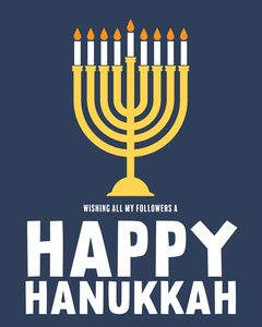 Blue Followers Happy Hanukkah IG portrait Hannukkah