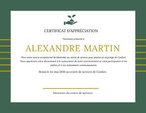 ALEXANDRE MARTIN  Certificat