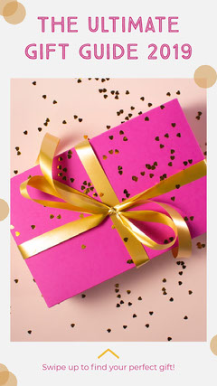 Pink Christmas Gift Guide Instagram Story with Present Instagram Story
