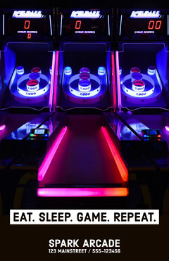 Neon Arcade Ad Flyer Neon