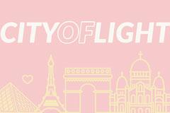 City of Light Paris Postcard City