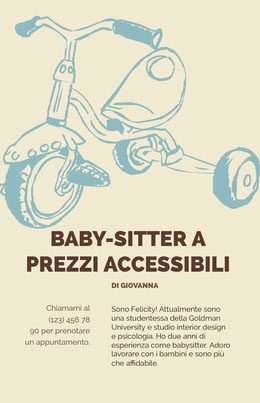 Baby-sitter a <BR> Volantino