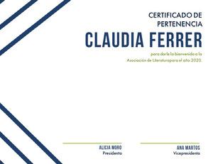 Claudia Ferrer Certificado