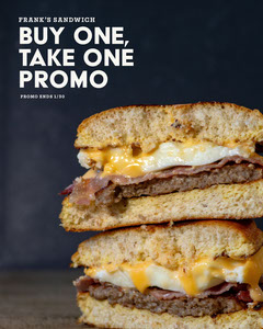 dark gray and white bogo sandwich instagram portrait Burger