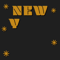 Yellow and Black New Year New Me Instagram Square New Year
