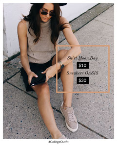 Brown and Gray Fashion Store Instagram Portrait Ad with Fashion Model Shoes